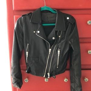 Faux leather jacket- worn once !